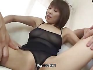 Asian Japanese Lingerie  Threesome