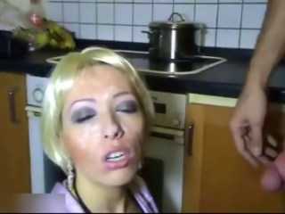 Cumshot Facial Kitchen