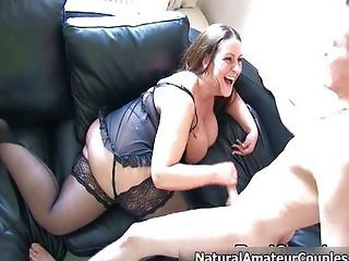 Nasty amateur slut getting her greedy