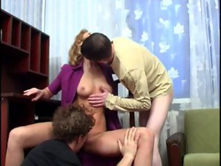 Amateur Licking  Old and Young Threesome
