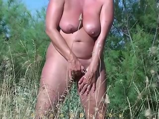 Amateur Masturbating Mature Nudist Outdoor