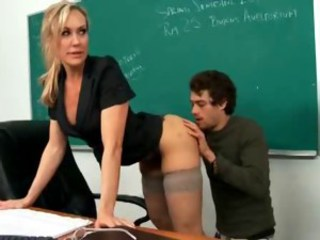Amazing  Old and Young School Stockings Teacher