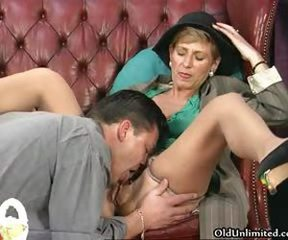 Nasty brunette housewife gets her hairy part6