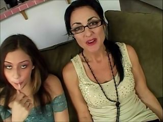 Daughter Glasses Mature Mom Old and Young Teen