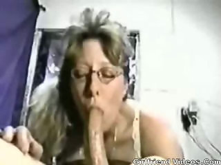 Amateur  Blowjob Deepthroat Glasses Homemade Wife