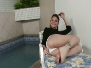 Delicious Shemale Swallows a Fat Cock
