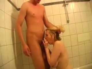 Bathroom Blowjob Mature Russian
