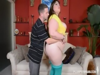 BBW Bella Bendz Takes Huge Cock Deep in Her Ass free