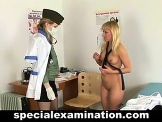 Special gyno exam for college babe