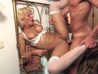 Blonde European Hardcore Italian  Stockings