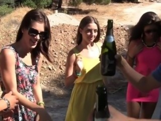 Drunk Outdoor Party Teen