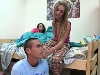 School Student Teen Threesome