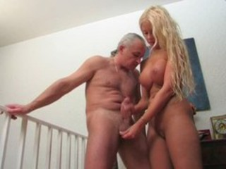 Amazing Big Tits Blonde Daddy Daughter Handjob Old and Young