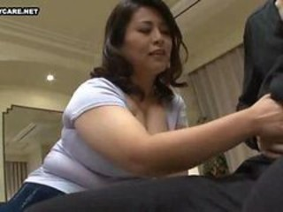 Asian  Handjob Japanese Mature Mom