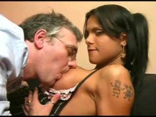 Shemale And Dad, Muscled T Girl - Scene 01