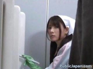 Asian Cute Japanese Public Teen Toilet Uniform