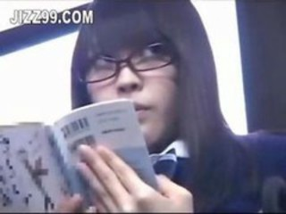 Asian Bus Glasses Public Student Teen