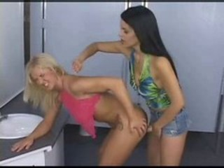 "lesbian anal strapon sex in the bathroom"" target=""_blank"