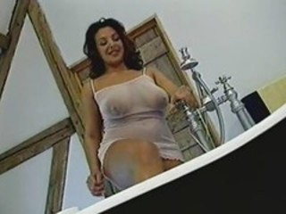 Bathroom Big Tits Chubby Lingerie  Natural Nipples