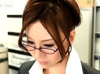 Asian Glasses Japanese Office Secretary