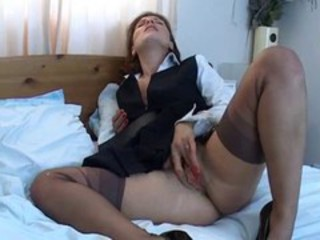 Masturbating Mature Pussy Solo Stockings