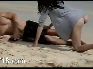 Extremely gentle lovers sex on the beach