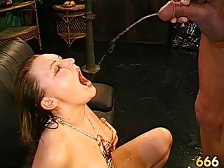 Wet blowjob with titty fuck