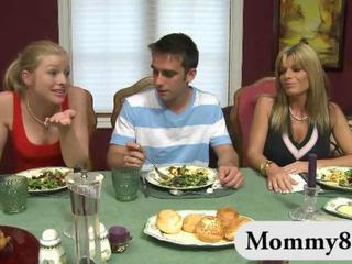 MILF stepmom Kristal Summers gets naughty with a teen couple