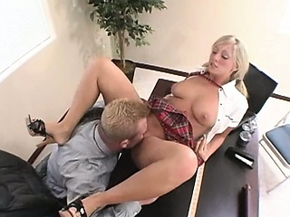 Amazing Licking  Office Student