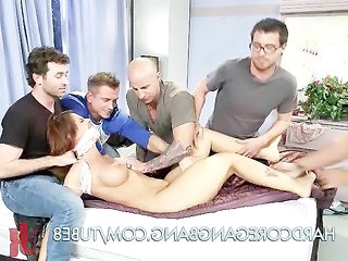 Teacher Trapped in a Hardcore Gangbang