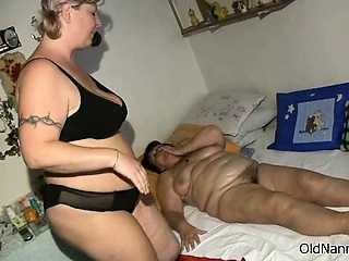 Busty grown-up slut gets scalding