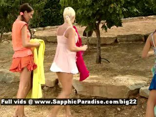 Iris and Deny and Devin amateur lesbo teens have orgy outdoor Sex Tubes