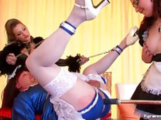 Sissy maid guy takes dildo up the ass tubes