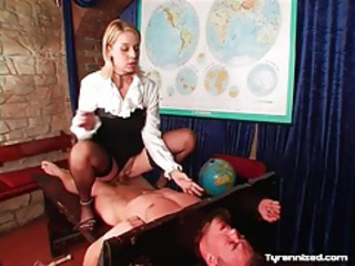 Cbt and spanking with abusive mistress tubes