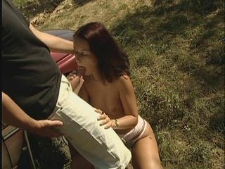 Blowjob Car European German Outdoor Skinny Teen