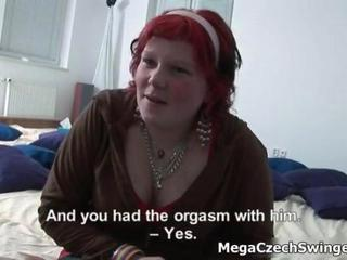 Redhead amateur swinger loves talking