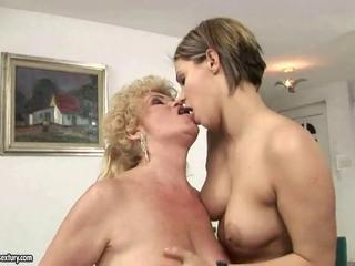 Kissing Lesbian Old and Young