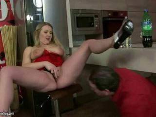 Chubby Drunk Masturbating Mature