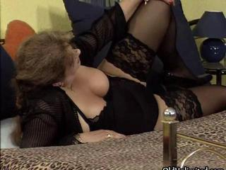 Nasty old whore goes crazy sucking