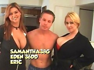 Big Tit Sluts Eden 38DD and Samantha Threesome With L...