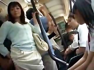 Asian Bus Japanese Teen