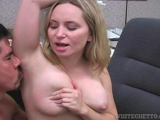 Janitor licks the armpits of the secretary