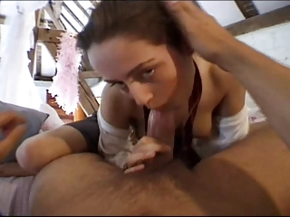 British slut Vanessa gets fucked up in the loft