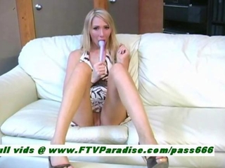 Sabrina cute blonde neonate goes and sits at bottom feel sorry an..