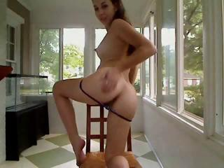Young hottie cam girl plays yon herself mainly a chair using..