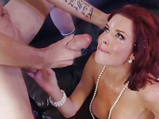 Veronica Avluv gets huge facial blast from unrefined cock