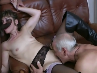 Nice french granny-mature fuck