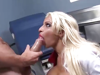 Holly gets facial from monster dick