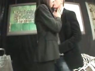 Asian Japanese Kissing Public
