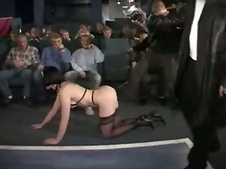 French Slut sucks several Cocks in a Dirty Adult Cinema